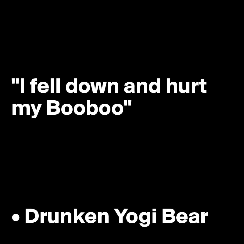 I-fell-down-and-hurt-my-Booboo-Drunken-Yogi-Bear